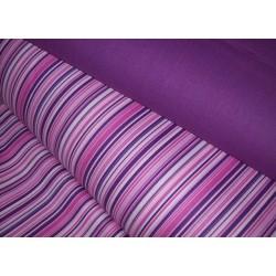 Metráž - proužek růžovofialový š.240 cm