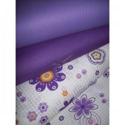 Metráž - fialové květy š. 240 cm