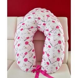Kojící polštář - oslíci růžoví