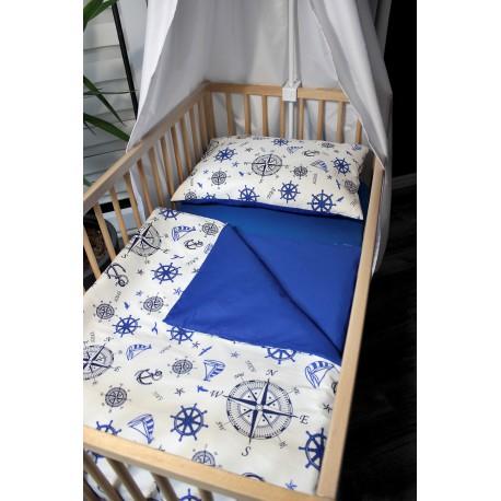 Povlečení dětské - námořnická Royal + modré plátno