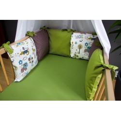 Mantinel polštářový - zvířátka + khaki zelená