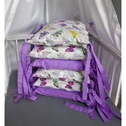 Mantinel polštářový - motýlci se světle fialovou