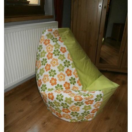 Vak kytička oranž/zelená + limetkové plátnoo