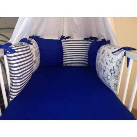 Mantinel polštářový -  námořní + tm.modrá