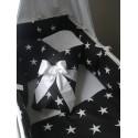 Zavinovačka - bílé hvězdy na černé + bílá