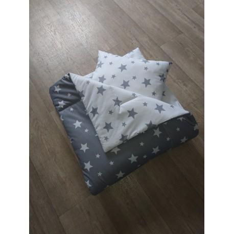 Přehoz na postel - hvězdy šedé