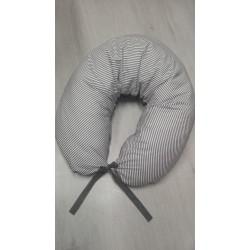 Kojicí polštář - proužek šedý + šedá