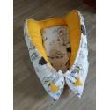 Hnízdečko pro miminka XXL - pejsci + tm.žlutá