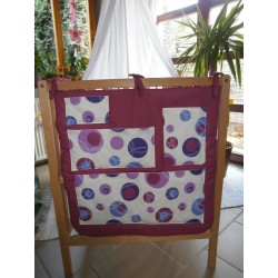 Kapsář na postýlku - fialová bublina + fuchsiové plátno
