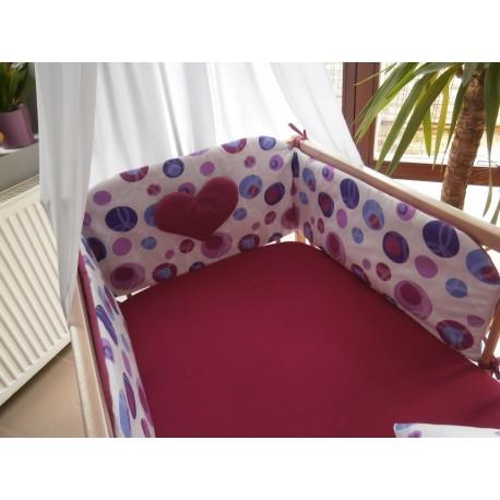 Mantinel zakulacený - fialová bublina
