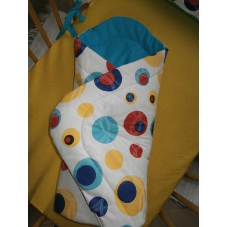 Zavinovačka - bublina barevná + tyrkysové plátno