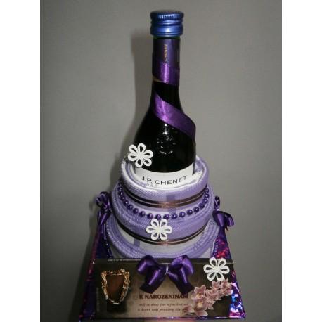 Dort z utěrek - fialový k narozeninám
