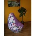 Sedací vak - kruhy + fialové plátno (Lila)