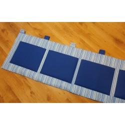 Kapsář - tm. modré plátno na pruhovaném podkladě