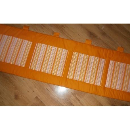 Kapsář - oranžový s pruhy