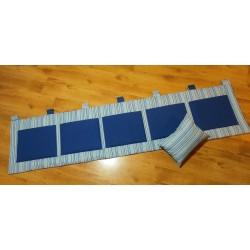 Kapsář - tm. modré kapsy na pruhovaném plátně