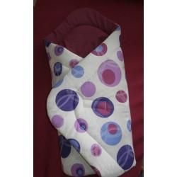 Zavinovačka - bublina fialová + tm.fialové plátno