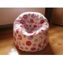 Sedací vak koule - malinově růžová bublina