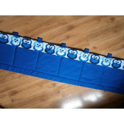 Kapsář  - modré sovy v řadě na tm.modrém plátně
