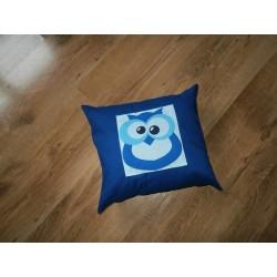 Polštářek  - sova modrá