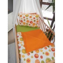 Povlečení dětské - bublina oranžová + oranžové plátno