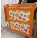 Kapsář na postýlku - bublina oranžová + oranžové plátno