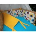 Mantinel - bublina barevná + sytě žluté plátno