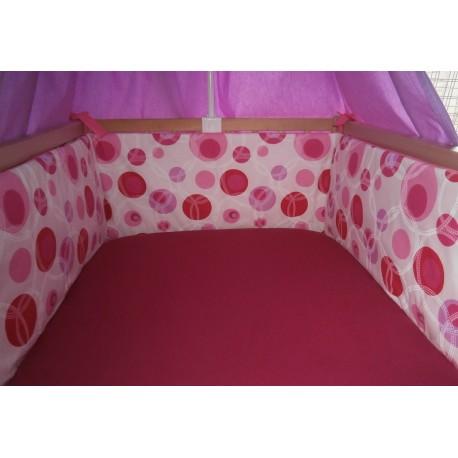 Mantinel 60x60x60x30 cm - růžová kombinace