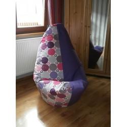 Sedací vak - kolečka + tmavě fialové plátno
