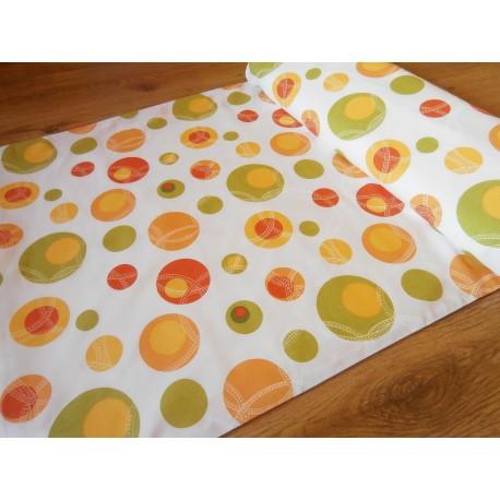 Metráž - bublina oranžová š.240 cm