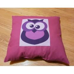 Polštářek - sovička fialová