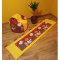 Sada - Vak + kapsář kočky na sytě žlutém plátně