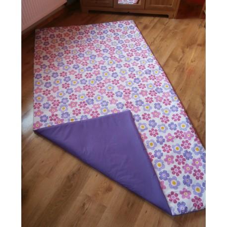 Přehoz na postel - růžovo-fialová kytka s tm.fialovým plátnem