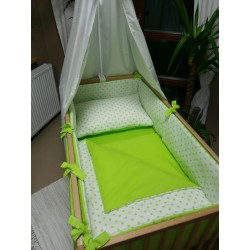Povlečení dětské - hvězdičky - limetkově zelená kombinace