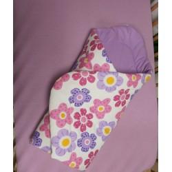Zavinovačka - kytička fialová + sv.fialové plátno
