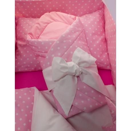 Zavinovačka s mašlí - hvězdička + růžové plátno