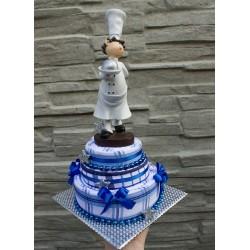 Dort z  utěrek - modrobílý pro kuchaře