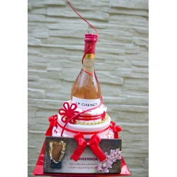 Dort z  utěrek - červenobílý k narozeninám