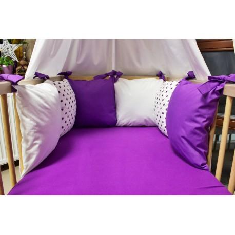 Mantinel - fialové hvězdičky polštářky