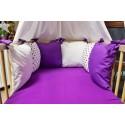 Mantinel polštářový  - fialové hvězdičky polštářky