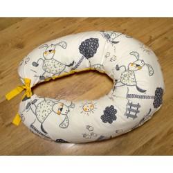 Kojicí polštář - pejsci se žlutou
