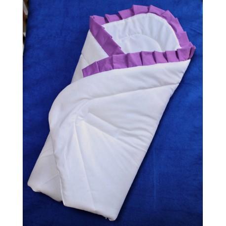 Zavinovačka - bílá s fialovým kanýrem