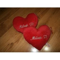 Polštářek - srdce (Miluji Tě)