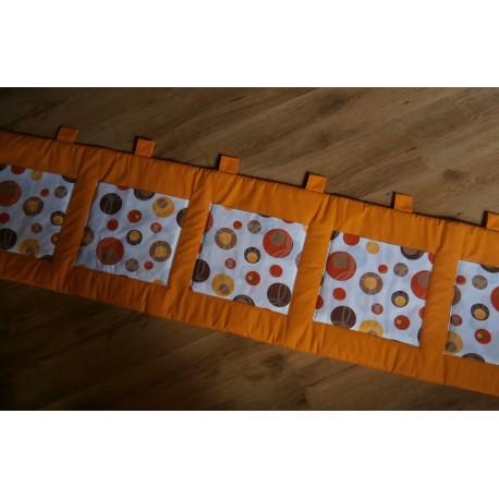 Kapsář - oranžové plátno + bublina hnedooranžová