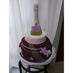 Dort z ručníků - vínovo bílý se sektem